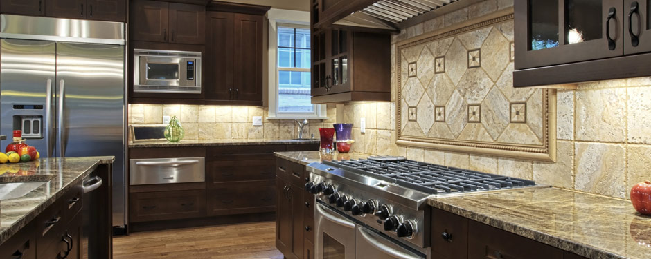 Dark colored kitchen appliances