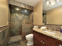 Luxury master bath with walk-in shower