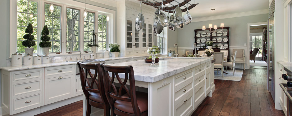 Dark Colored Kitchen Appliances; White Kitchen In Luxury Home ...