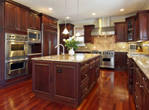 Kitchen cabinets with cherry wood kitchen