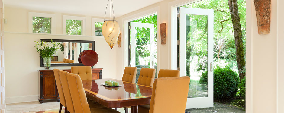 French doors dining room windows