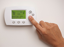 Updating air conditioning on thermostat