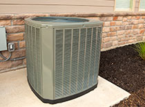 Background air conditioner in summer