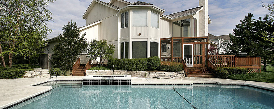 remodeled backyard with pool
