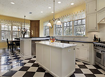 checkered kitchen floors
