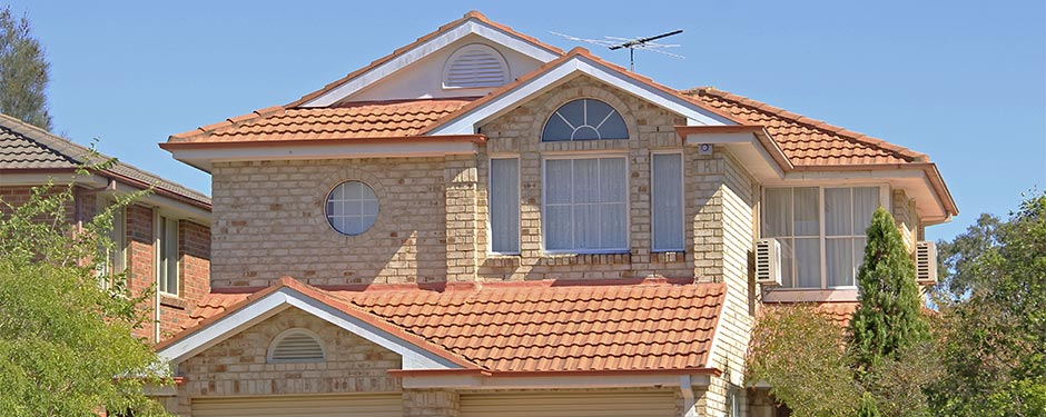 suburban red tile roof