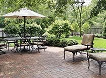 backyard with concrete pavers