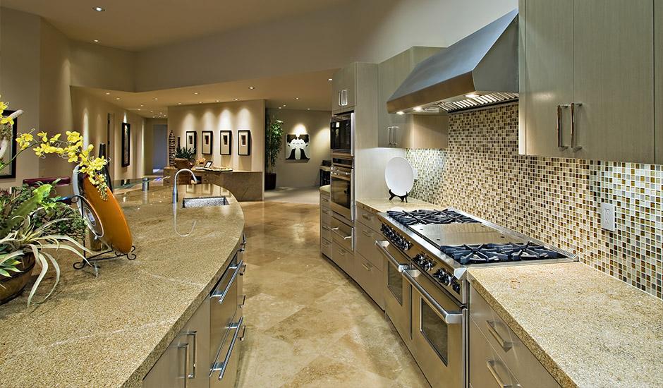grand marble kitchen remodel - Kitchen Gallery
