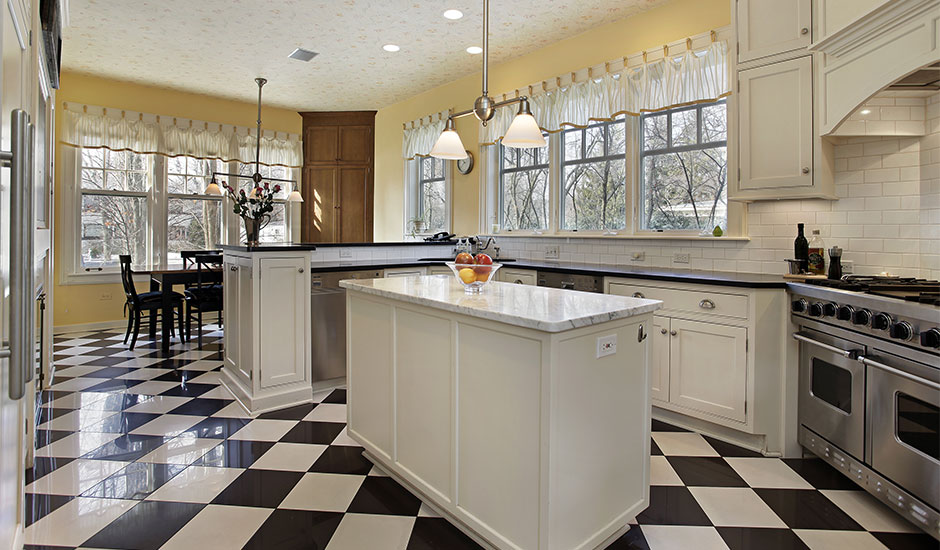 Checkered Kitchen Floor Trusted Home