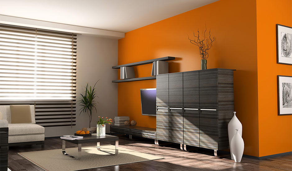 Orange Accent Wall Trusted Home Contractorstrusted Home Contractors