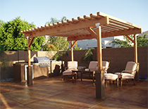 patio awning and BBQ