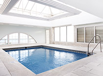 indoor white marble pool