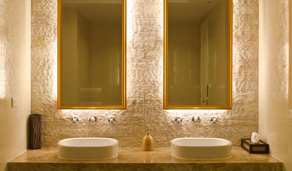 Halo Lighted Bathroom Mirrors