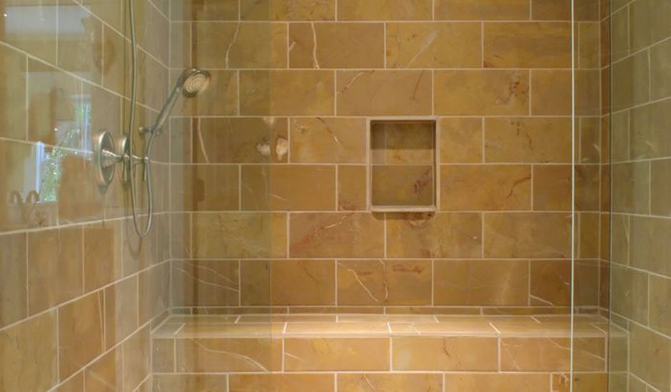 tile and glass shower